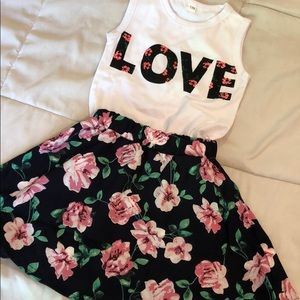 Other - Girls 2 piece skirt set